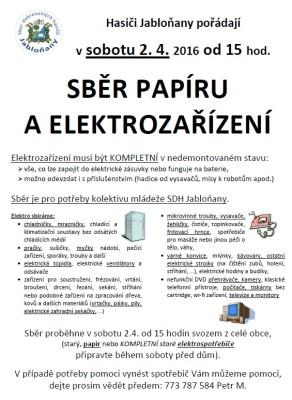2016 sběr elektroodpadu